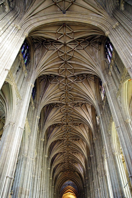 Canterbury Cathedral, Kent ceiling by Whipper_snapper, via Flickr