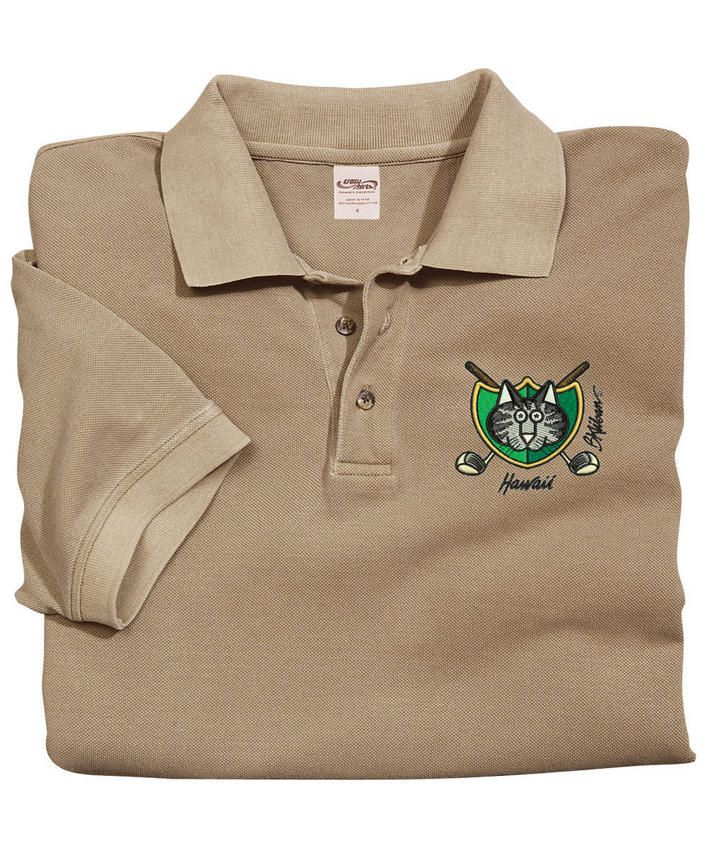 Golf Cat Crest - Kona Coffee-Dyed Pique
