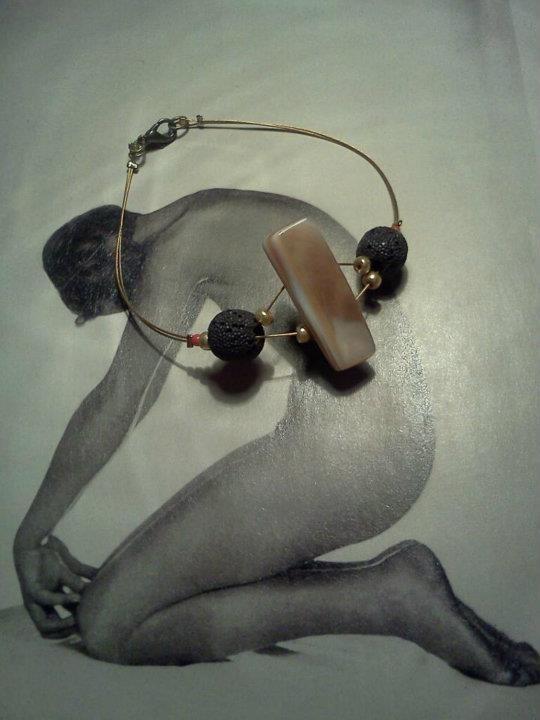 athina handmadejewel-bracelet with volcano stones