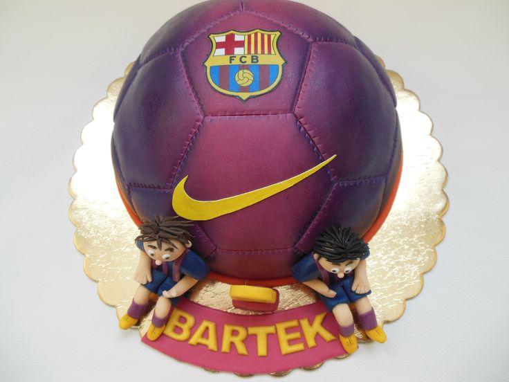 FC Barcelona ball cake
