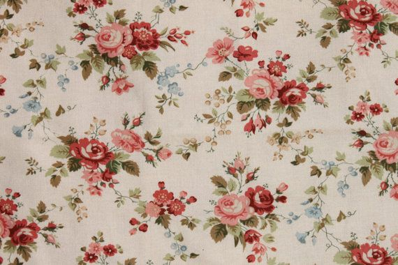 Pink Rose Fabric Old Fashioned Fabric Romantic By