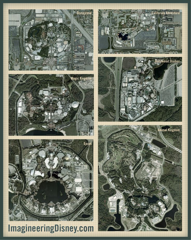 Comparing Disney Parks From the Air - Imagineering Disney