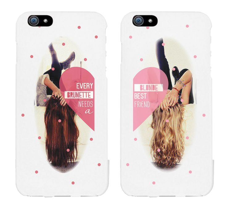 Every Brunette Needs a Blonde Best Friend BFF Phone Cases for iphone 4, iphone 5, iphone 5C, iphone 6, iphone 6 plus, Galaxy S3, Galaxy S4, Galaxy S5, HTC M8, LG G3: Cell Phones & Accessories