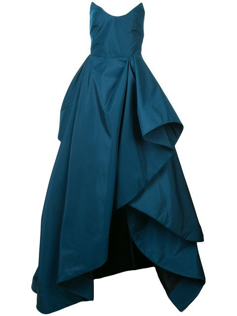 GABRIELLE'S AMAZING FANTASY CLOSET | Oscar de la Renta's Magnificent Teal Green Silk Gown (Alternate Front Image) You can see all of the Images of this Outfit and my Remarks on this board. - Gabrielle