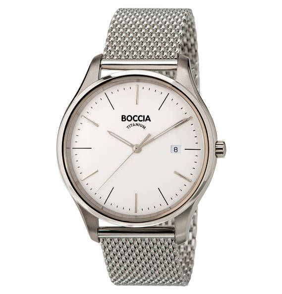 "BOCCIA Herrenuhr, ""Classic"", 3587-03 Silber"