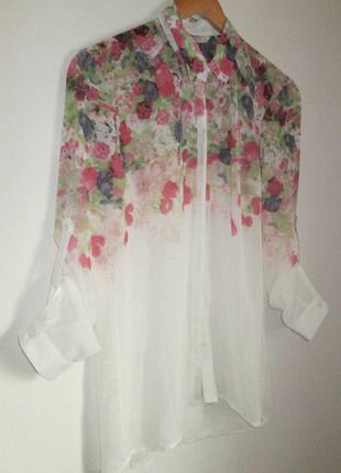 Kup mój przedmiot na #vintedpl http://www.vinted.pl/damska-odziez/koszule/9970590-nowa-koszula-mgielka-biala-w-kwiaty
