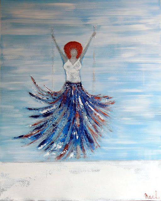 Kom binnen in de Kunstgalerie van Marl.Decoratieve schilderijen: 17-234 Higher than the sky
