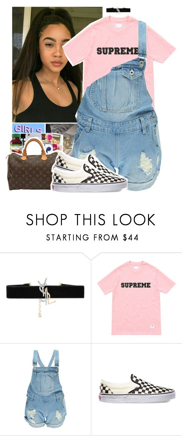 """biking ~ frank ocean ft. tyler the creator & jay-z"" by luh-foreign ❤ liked on Polyvore featuring Yves Saint Laurent, Boohoo and Vans"