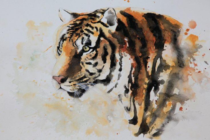 Watercolour Tiger <3 http://shop.davidshepherd.org/detail.php?id=003277