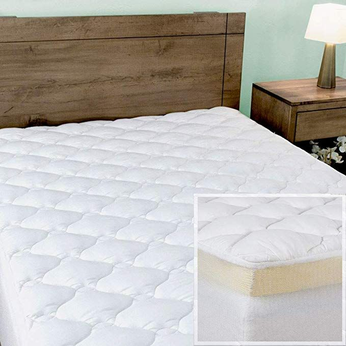 Night Nest Premium Mattress Pad And Memory Foam Mattress Topper Made In The Usa Queen Size Review Mattress Premium Mattress Memory Foam Mattress Topper