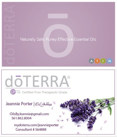 doterra business cards pictures | doterra essential oil business card