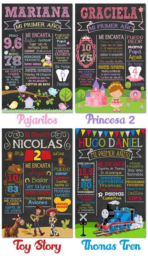 Pizarra Cumpleaños Pizarron Vintage Cartel Chalkboard Invita - $ 285.00