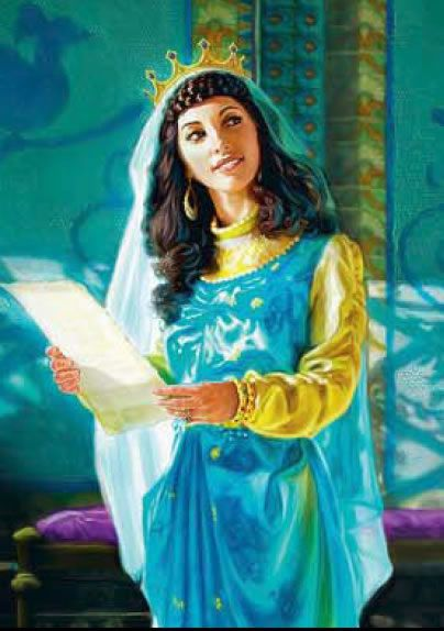 Queen Esther Bible Story | Queen Esther in turquoise & gold