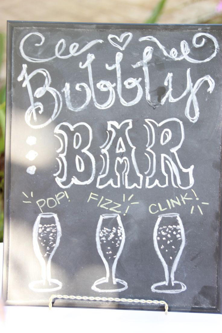 Mimosa Bar Chalkboards at Glam Shabby Chic Bridal Shower A SPARKLE FACTOR LLC