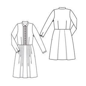 Burda Dress recommended in viscose/crepe