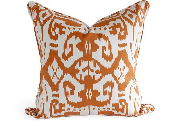 Lee Kleinhelter Tag Sale: Orange Ikat Pillows, Ikat Pillowlik, Decorating Interiors Design, Ikat Design, Decoration, Bold Prints, Sofa Pillows, Lee Kleinhelt, Products