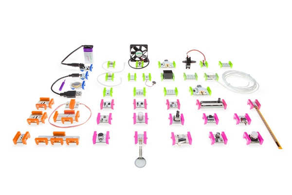 "littleBits -- ""Legos for the electronic generation"" as I heard it described; expensive but looks good for teaching circuits and stuff (also looks FUN)"