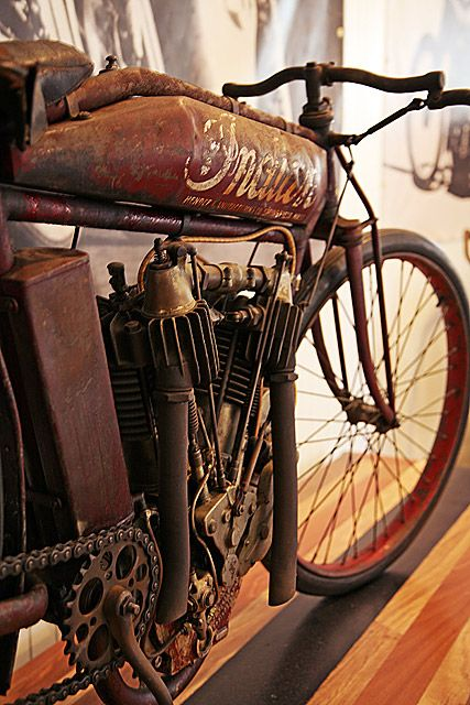 Indian Motorcycle- Love the straight pipes!... Straight down.