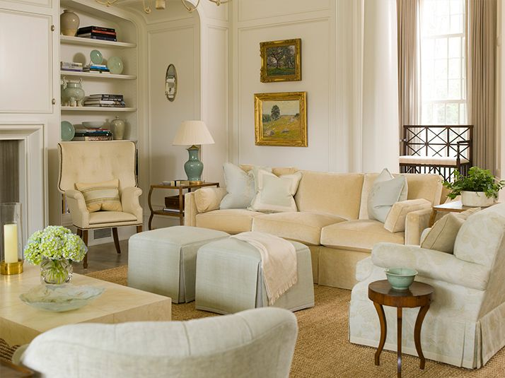Gorgeous Soft Color Palette In This Living Room From Phoebe Howard