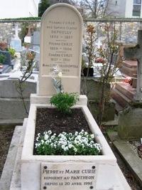 Pierre et Marie Curie, cimetière de Sceaux