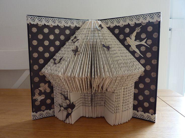 Book Folding, Art, Bird House