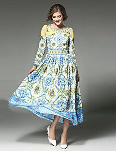 MAXLINDY Women's Boho Going out / Party / Holiday Vintage / Street chic /Midi Swing Dress – USD $ 26.99