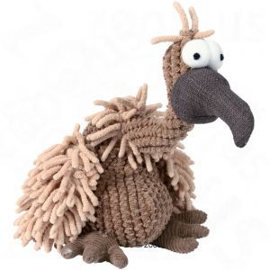 Plush Vulture with Squeaker - poor chap looks suitably alarmed by the treatment he's going to get...