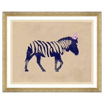 Check out this item at One Kings Lane! Party Animals, Zebra