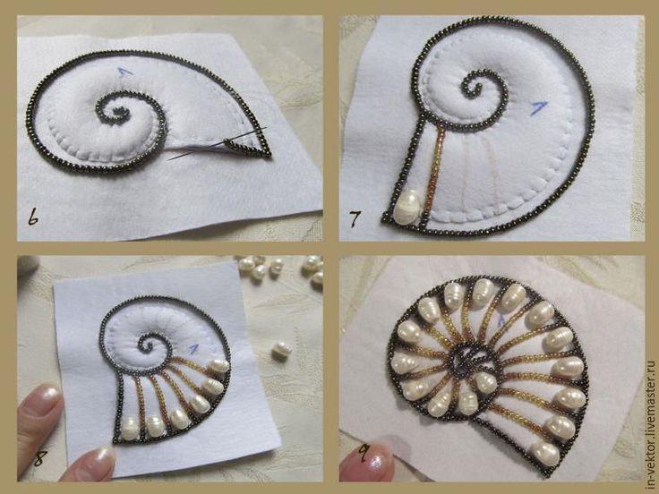 Вышиваем бисером кулон «Наутилус» - Ярмарка Мастеров - ручная работа, handmade