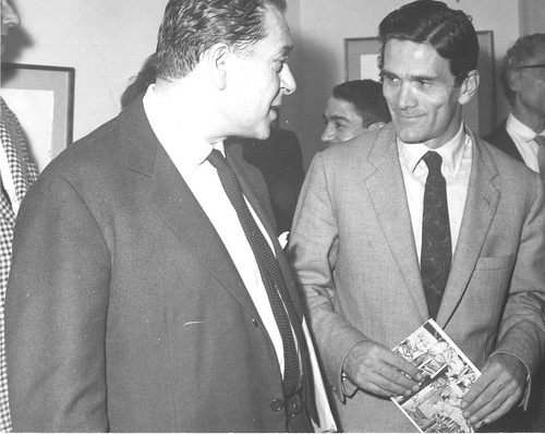 Renato Guttuso and Pier Paolo Pasolini