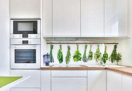 Kuchnia na wymiar z grafiką na szkle od 3TOP Meble