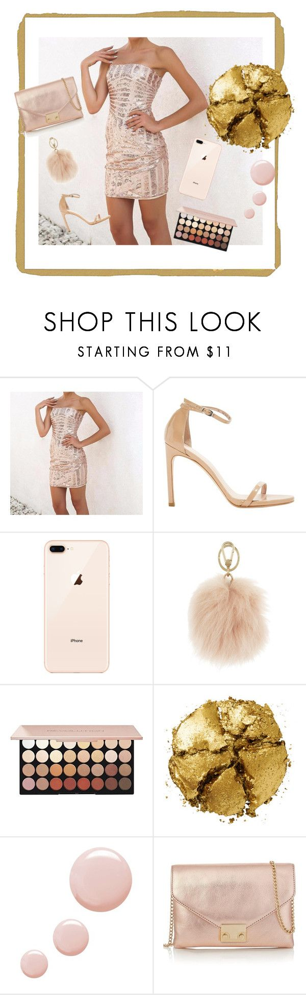 """""""Gold Everything"""" by dreamclosetcouture on Polyvore featuring Stuart Weitzman, Furla, Pat McGrath, Topshop and Loeffler Randall"""