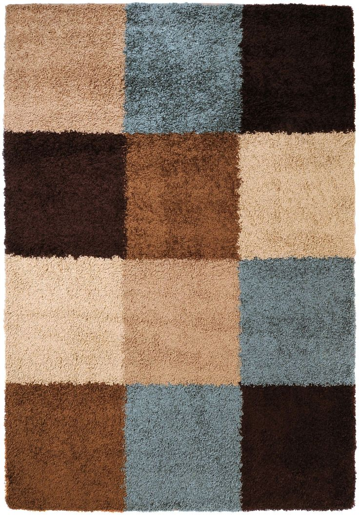 Surya CPT1714 Concepts Blue, Brown Rectangle Area Rug