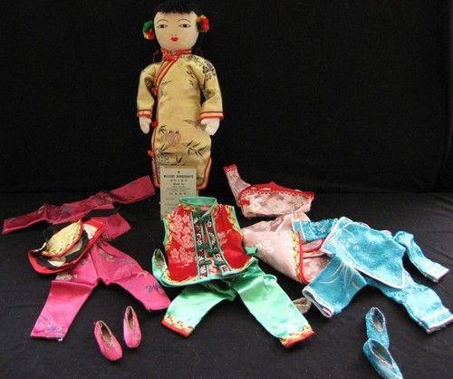 "10"" Cloth Chinese Girl 4 Dresses Chinese Refugee Organization | eBay"