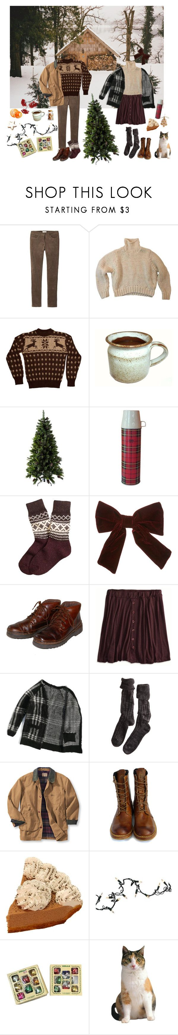 """""""Bringing home the tree"""" by sam-penzance ❤ liked on Polyvore featuring Toast, American Apparel, Brooks Brothers, Rockport, American Eagle Outfitters, Polder, Timberland Boot Company and Kurt Adler"""