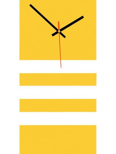 Elegáns 3D fali NATZ falióra, szín: sárga, fehér