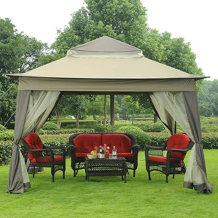Portable Outdoor Gazebo w/ Netting Garden Patio Yard Canopy Pergola Furniture & Best 25+ Portable gazebo ideas on Pinterest | Outdoor canopy ...