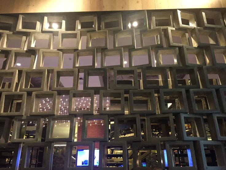 Photo 3 : Concrete blocks at cotta @ crown casino act as divider wall created by cement blocks.