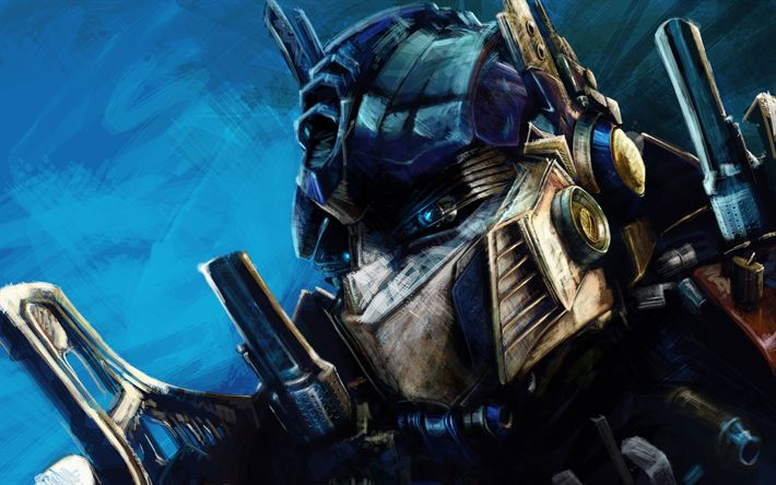 Download wallpapers Transformers, The Last Knight, Transformers 5, Optimus Prime, art