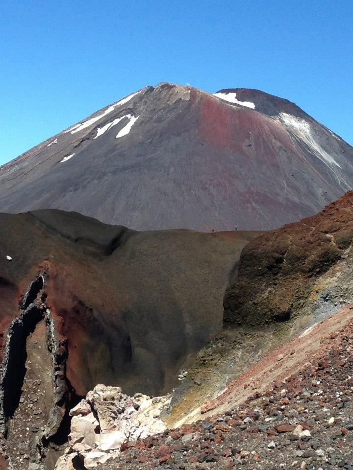 Moody Mt Ngauruhoe in the background of Red Crater. http://www.walkinglegends.com/walks/tongariro-hiking-tour/