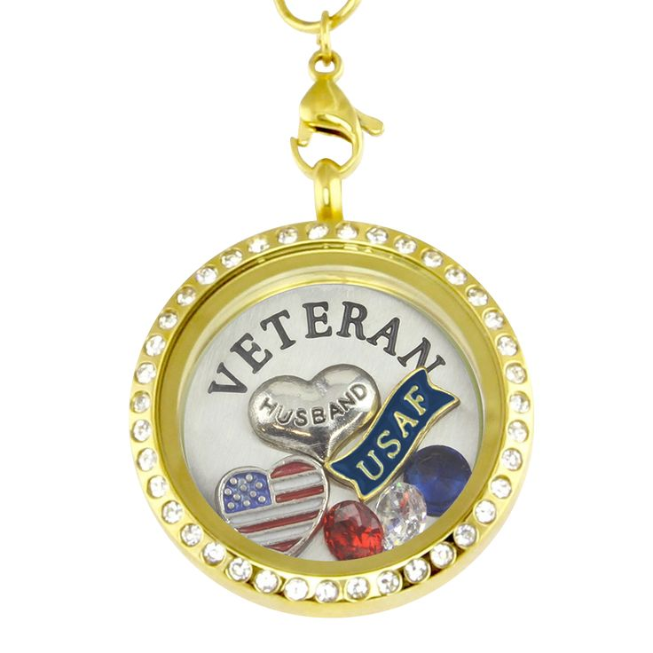 Proud Wife- Air Force Veteran Husband Necklace