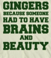 Gingers Brains and Beauty