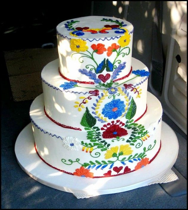mexican themed wedding cakes 11 best mexican embroidery cake images on 17283