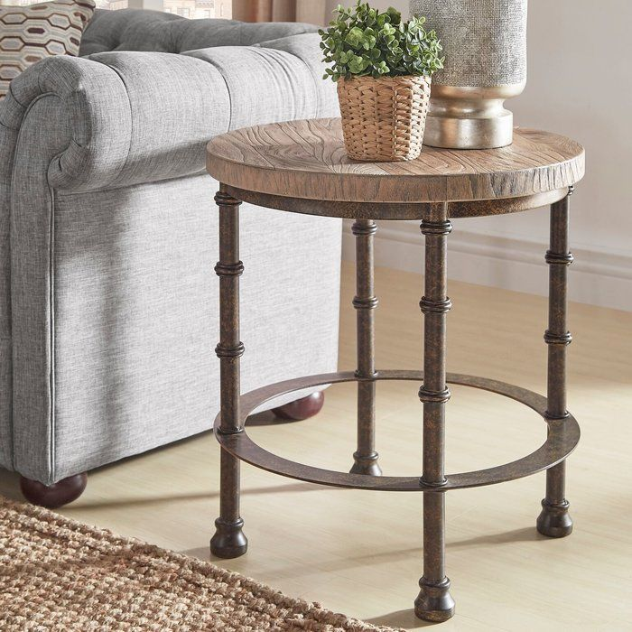 Mccarver Industrial End Table Living Room End Tables End Tables Side Table