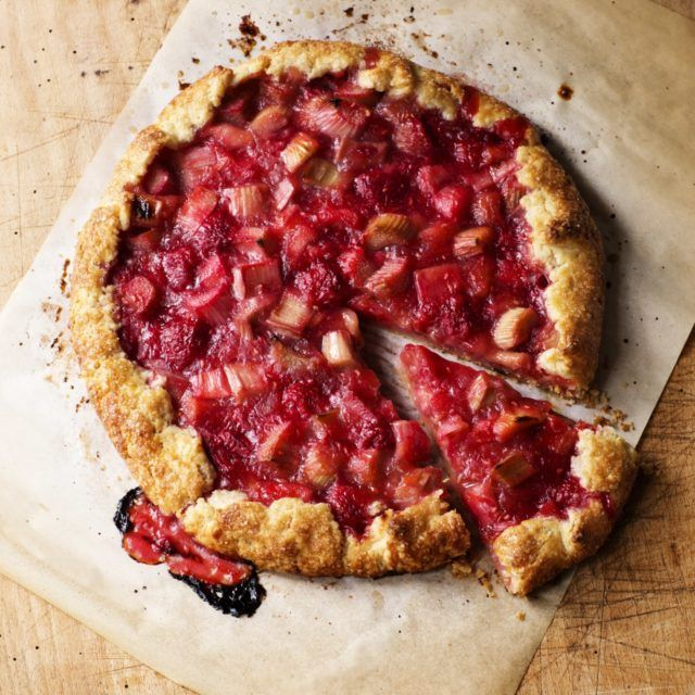 Raspberry Rhubarb Crostata - Barefoot Contessa