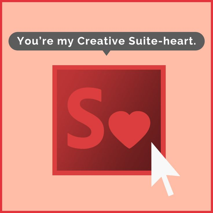 """CREATIVE SUITE-HEARTIt's the classic """"designer meets designer"""" love story. Your eyes meet over a new font and you think, """"Wow, you're just my type.""""  Design by Chumpy Ly, copy by Bridget Dominic,""""supervision"""" by Alex Watts"""