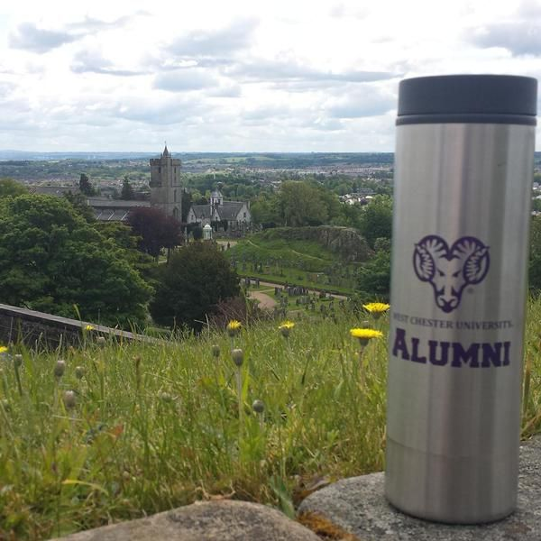 #WCUalumni travels to Scotland while showing off his #rampride #summerpride
