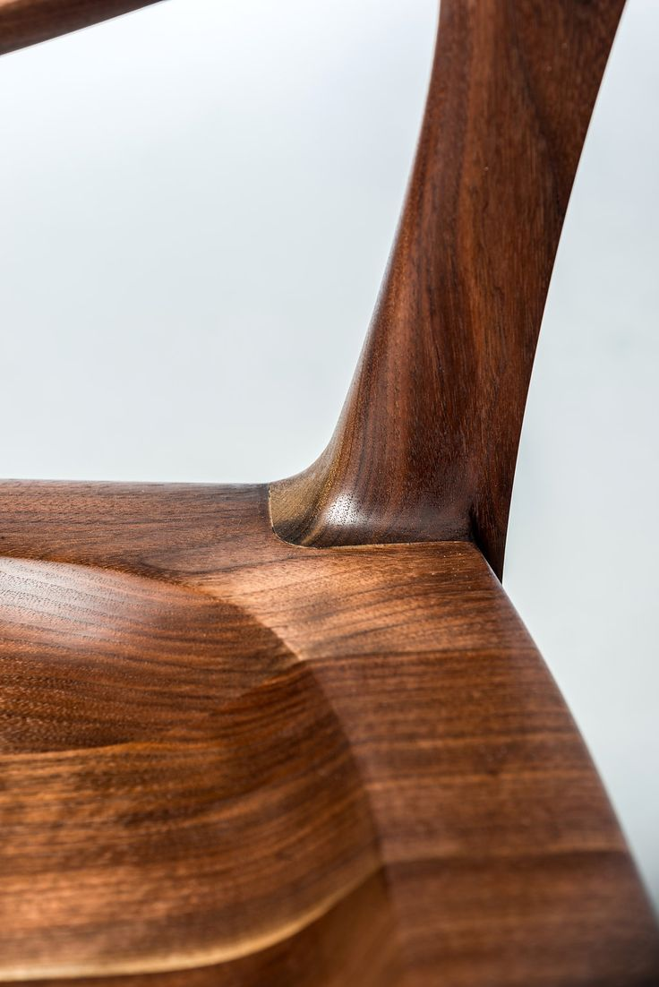 Replica Of Sam Maloof Dining Low Back Chair, Handmade From Black Walnut,  Solid Wood, Natural Oil And Beeswax Finish