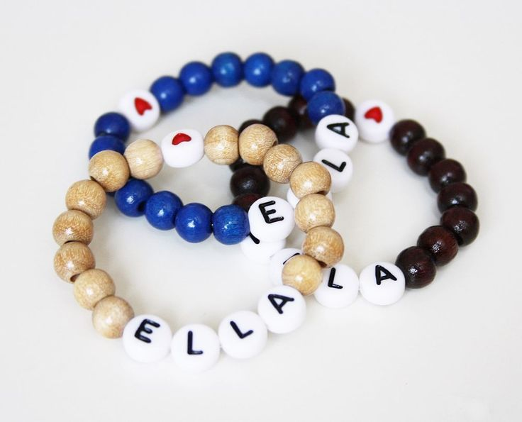 Holz Perlen Baby Kinderarmband mit Namen Taufarmband Namensarmband Armband | Uhren & Schmuck, Kinderschmuck, Armbänder | eBay!