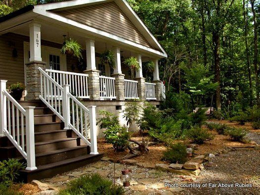 297 best images about mobile home porches on pinterest for Side porch